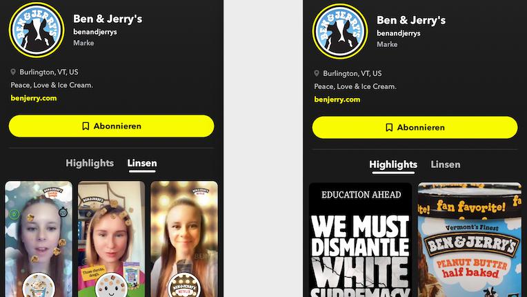 Snapchat etabliert Profile für Unternehmen