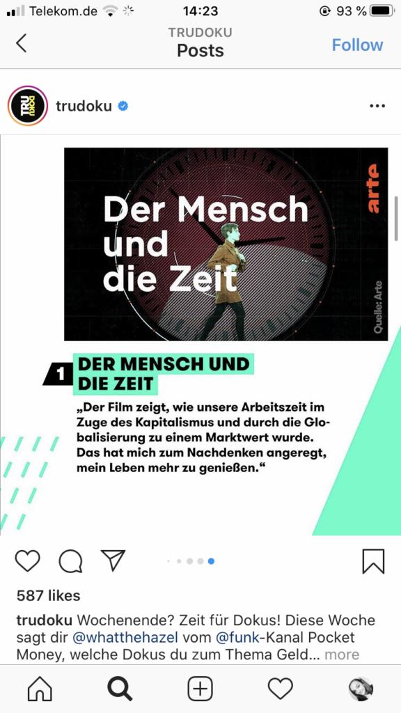 Beispiel für ein Instagram Karussell im News-Feed