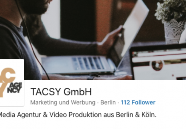 TACSY goes LinkedIn. Let's connect!